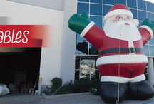 Holiday Inflatables / Tis the season to unveil your holiday-themed inflatables. We have inflatables for all seasons. Featuring a huge variety of cheer-filled, larger-than-life blow-ups, our selection includes everything from enormous Santa Claus inflatables to so-big snowman inflatables to oversized ornament inflatables — all made to do one thing, and one thing only: channel the spirit of the season in the most massive way possible.
