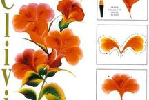 Instruktionsbilder på penselmålning
