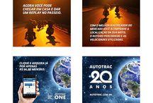 Publicidade, Reportagens e Promoções Autotrac One e Autotrac Mini / Imagens de campanhas publicitárias, promoções e reportagens do Autotrac One, Autotrac Mini, e Nelson Piquet.