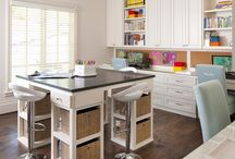 Hobby Room / Great ideas to design & organize your craft room or sewing space.