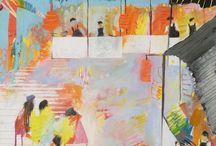 Thailand paintings / Kathryn Matthews SS16, oil on board, paintings
