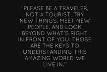 Favorite Travel Quotes / We hardly need inspiration to travel, but these travel quotes make us itch to get out even more!