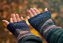 Stay warm! Mittens and scarves