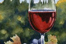 Peinture avec du raisin