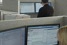 Länsförsäkringar, Malmö / Akustikløsningen fungerer også som et visuelt element i storkontoret.