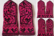 Mittens Votter og pulsvarmere / Strikk knitting