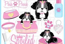 Cats and Dogs and other Pets / dog, cat, fish, and other pet clipart graphics created by Sanqunetti Design and other inspirations
