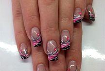 Nail art work or nail