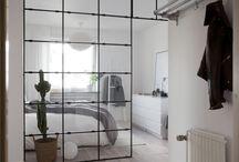 Glas vägg