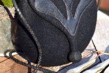 Felt and leather