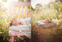 Newborn photography outside