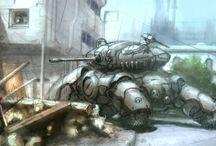 mech, tank, jets, gunships