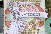 Nouveau Girls - Some Odd Girl / Cards & crafts using the Nouveau Girls digital and clear stamps by Some Odd Girl.