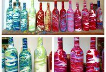 PaintedBottles / #Wine #WineBottle #Heart #AllFlows #PantaRei  #Color #contemporaryart #ModernArt #moma #Wineyard #Cabernet #Chianti #Brunello #Barolo #Davino #ColorUpYourLife #colorExplosion #Color #Art #Gallery