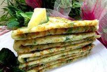 omelety,palacinky