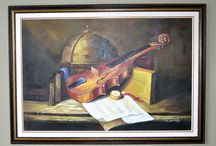 really nice oil painting of violin / (250$)i have a really nice oil painting of violin in great condition framed the mesurements are 41 inches wide x 29 inches high,really nice addition to your decor,i am in brampton area ,ask us what else we have for sale we have a lot,thank youNo Pay Pal