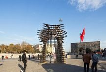 SERRA GATE - Gokhan Avcioglu and GAD Architecture / A modular sculptural installation, designed by award-winning Istanbul and New York based architectural practice GAD Architecture, has been recently featured in Istanbul's famous Taksim Square during Istanbul Design Week.