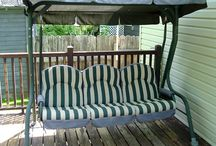 Swing seat canopy and cover