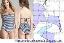 Biquinis, bañadores, ropa interior y patrones