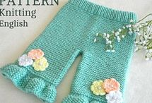 Free baby knitted pants