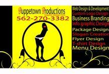 Long Beach Graphic Design / Puppetown Productions is a graphic design firm in Long beach, CA