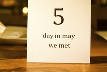 Table Number and Name Cards ideas / Creative wedding table numbers and name cards