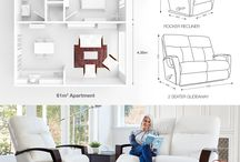 Slim Line Furniture - by La-Z-Boy / With more and more people downsizing, it is important to create a living room that is stylish yet functional. At La-Z-Boy we have you covered with options that will not only leave you space to spare, but that will allow you to relax in comfort and style.