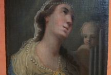 SANTA CECILIA PRIMO '700 / Olio su tela del primo '700, raffigurante Santa Cecilia misure cm. 48 x 66