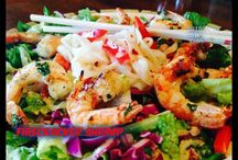 Salads / All kinds of delicious salads ... And then the 'Found on Facebook' link (under the picture) to get the full recipe  / by Tami Pearson Campbell