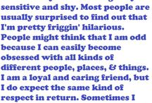 All about me / My VaLuEs..My BeLiEfS...aLL AbOuT Me
