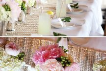 """ideas for kate's bridal shower / collecting ideas for kate's """"kate spade"""" inspired bridal shower.  black + white, pops of gold, green & bright pink.  stripes & polka & dots.   / by Dain Middleton"""
