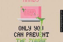 Perler Zombie