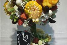 Centros de flores de fruta