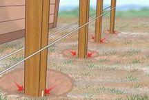 como enterrar postes de cerco