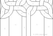 Staines glass patterns / Patronen voor free crochet, schilderen op nummer en glas in lood