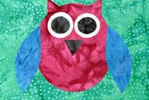 Carols Quilts Owl template quilting / Owl templates from Carols Quilts and ideas for using them