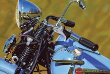 Scott Jacobs Motorcycles & Harleys / This is a gallery wrapped giclee' on canvas, ready to hang.  Call us for framing options if desired. Each piece comes with the Certificate of Authenticity and Warranty.   If ever damaged or stolen, your item may be replaced for the cost of printing if verifiable with your Certificate of Authenticity and a Police or Insurance report.