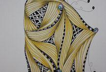 Zentangle eigen werk / Dit bord bevat alleen zentangles die ik zelf ontworpen en gemaakt heb