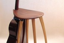 Chair guitar stand