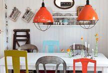 Orange / Interiør med innslag av oransje