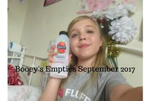 Booey's Empties / Booey has decided to make her own empties posts