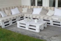 Hoek/bank van pallets