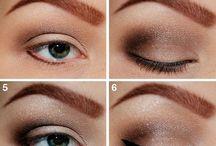 Eye make up step by step