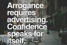 Portraying arrogance