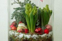 Deco fleurs Noël