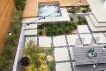 Peisagistică grădina din spatele casei