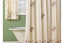 Embroidered Shower Curtains / Description: Embroidered shower curtains made by 100% cotton with custom design. Supplying handmade embroidery with best price in senembroidered.com