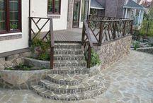 Крыльцо,  терраса, лестница из плитки