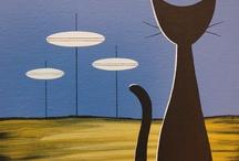 Midcentury Modern Cats / Cool Cats / by Jennifer Stauss Windrum