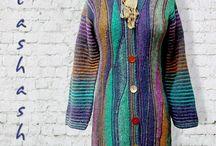 вязанные пальто для примера